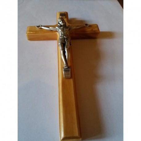 Crucifix Christ en bois d' olivier