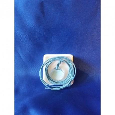 Pendentif coquille bleue