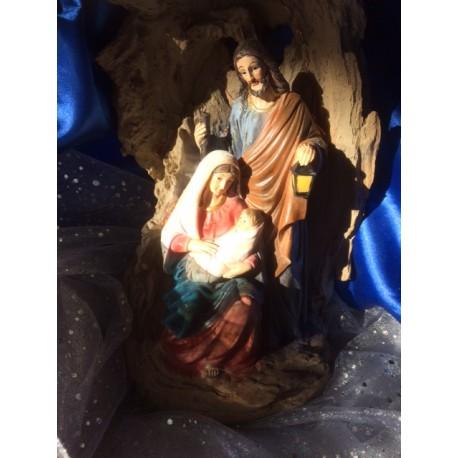 crèche lumineuse sainte famille