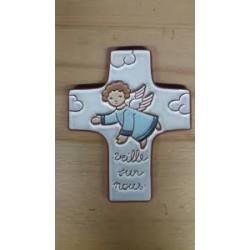 Croix céramique blanche